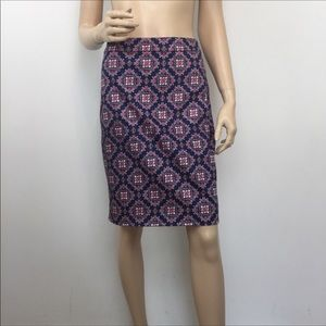 J. Crew Factory 'The Pencil Skirt' Printed 8